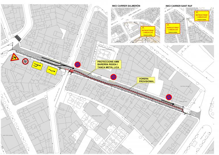 Mapa de les noves indicacions del carrer Anselm Clavé