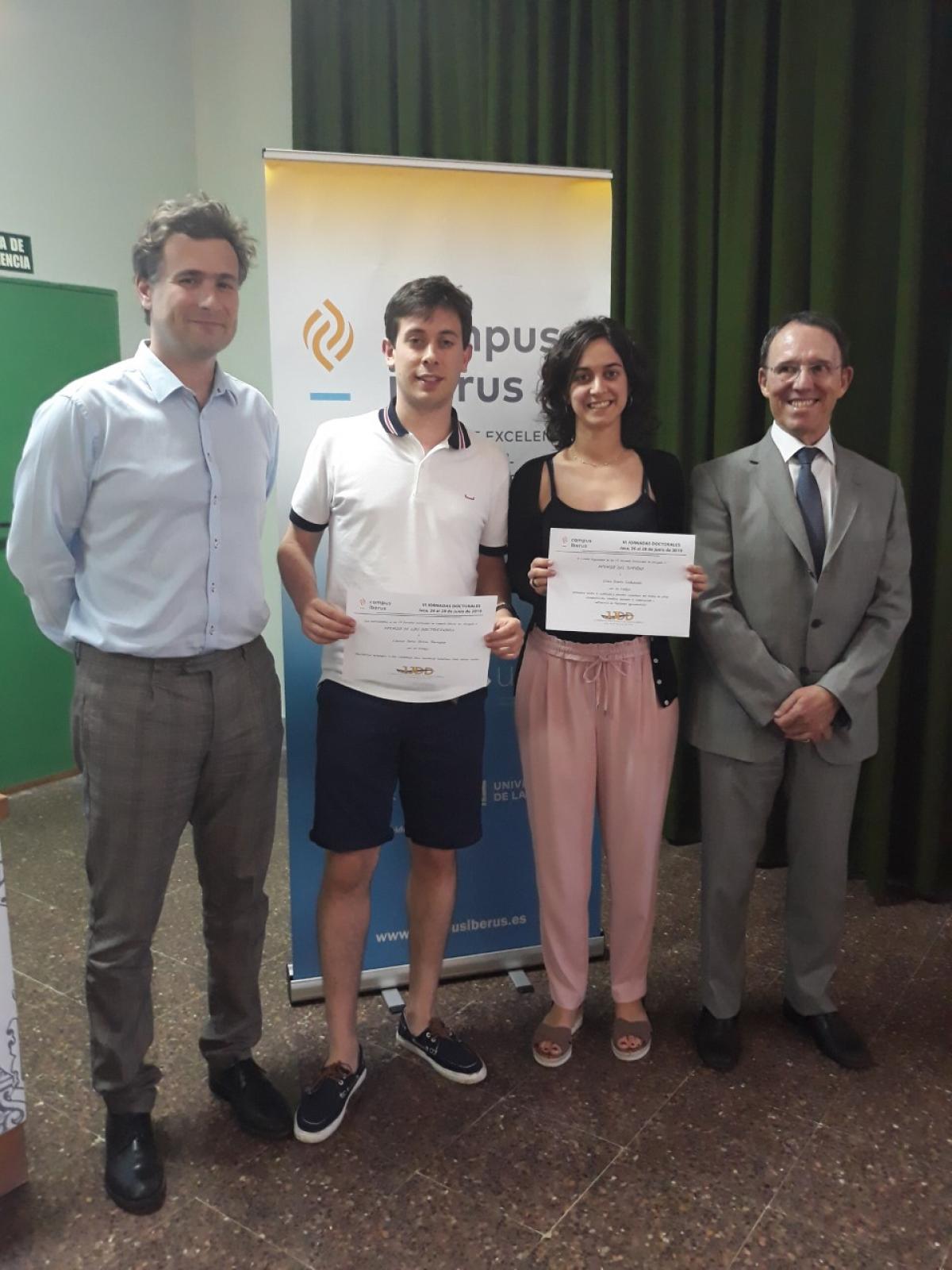 Els dos estudiants premiats a Jaca