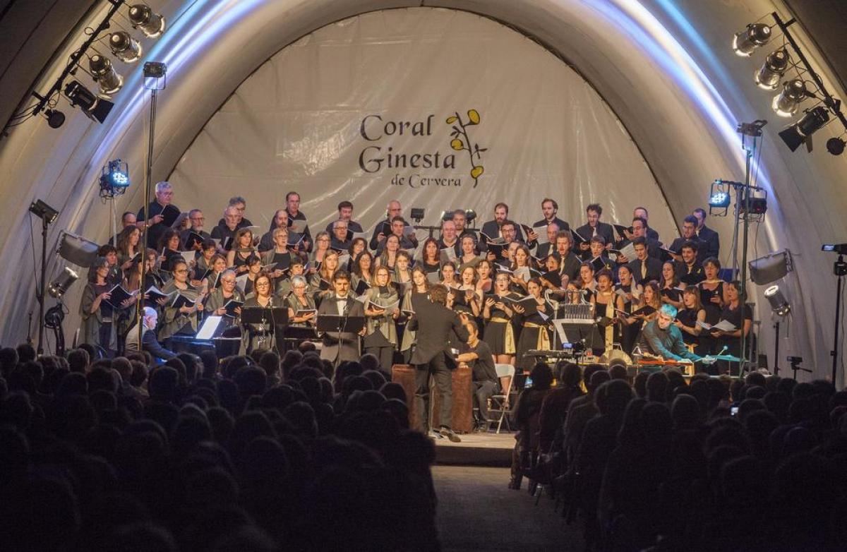 Foto de la Coral Ginesta de Cervera, que formarà part del Concert al Túnel d'enguany