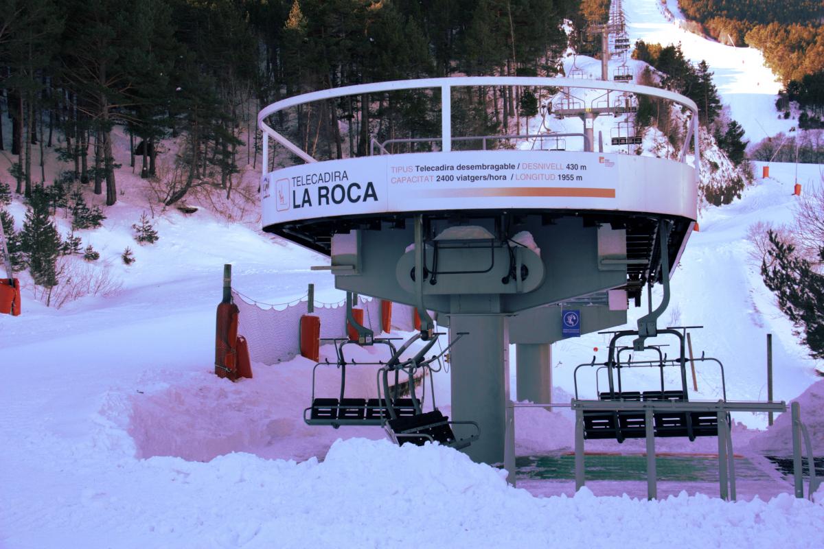 Pla general de la base del telecadira La Roca d'Espot Esquí