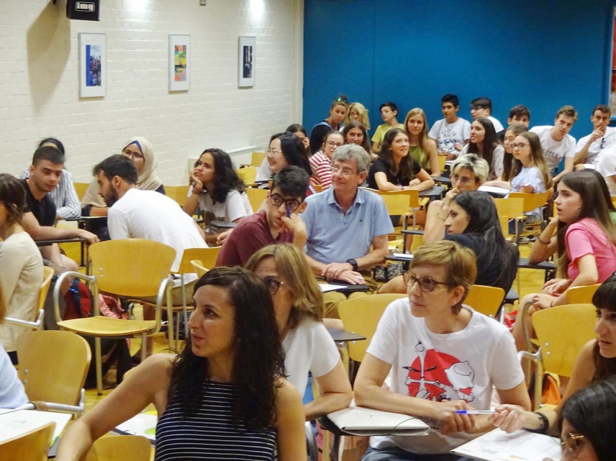 Una aula de l'EOI de Lleida