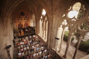 Concert de la passada edició al claustre del Reial Monestir de Santa Maria de Vallbona