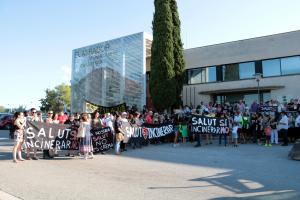 Imatge de la protesta dels detractors al projecte de Nova Tracjusa