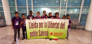 Imatge de l'arribada de nens a Lleida
