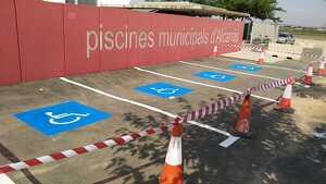 Imatge de les noves places d'aparcament