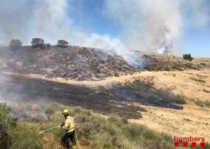 Imatge de l'incendi a la Noguera