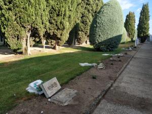 Imatge del cementiri del Palau d'Anglesola