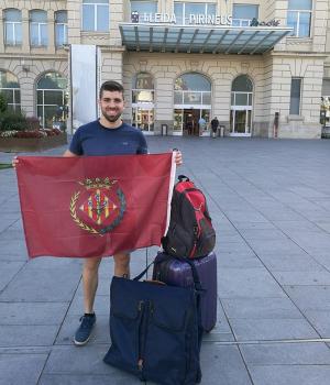 Isaac Martínez abans de marxar de Lleida