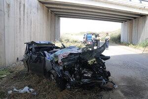 Estat en el qual ha quedat el vehicle implicat en l'accident de l'A-2.