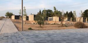 Fotografia de l'estat del nou cementiri d'Alcarràs