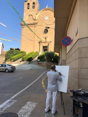 Fotografies del concurs de Pintura Ràpida que ha tingut lloc durant els actes previs de Festa Major
