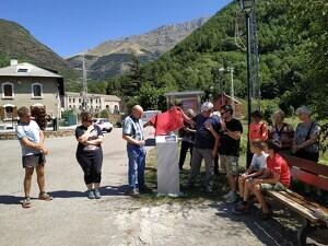 Imatge de la inauguració de 'La ruta Martorell' a Capdella