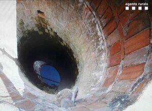 Imatge del pou sense protecció a Bellaguarda