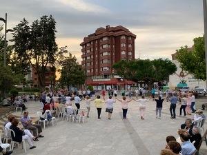 Primera de les ballades de sardanes a la fresca, d'aquest estiu 2019 a les Borges Blanques