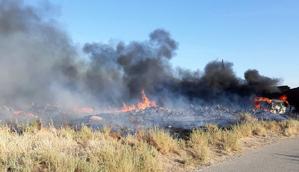 S'incendia un cotxe a Menàrguens.