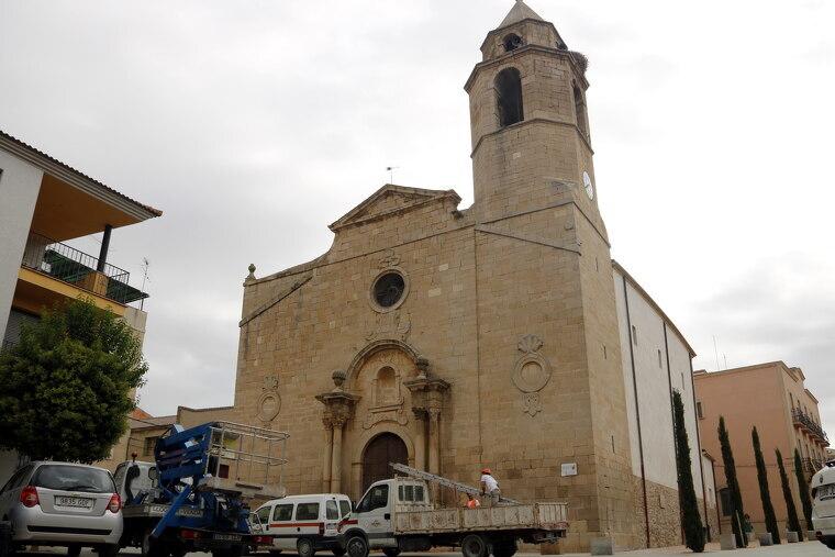 Pla general de l'església del Palau d'Anglesola