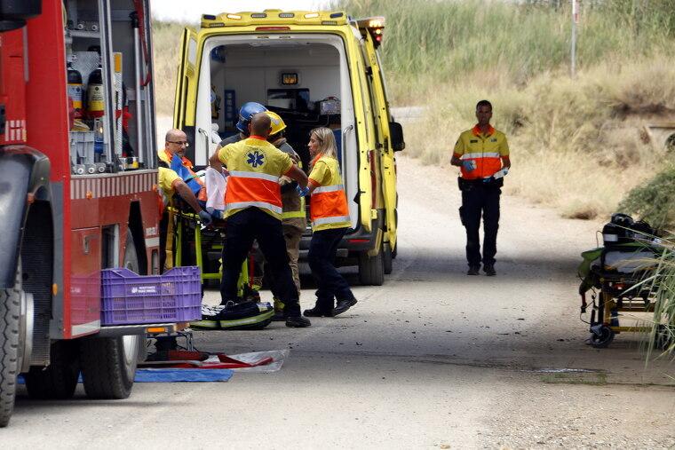 Tres ambulàncies han treballat en el sinistre.