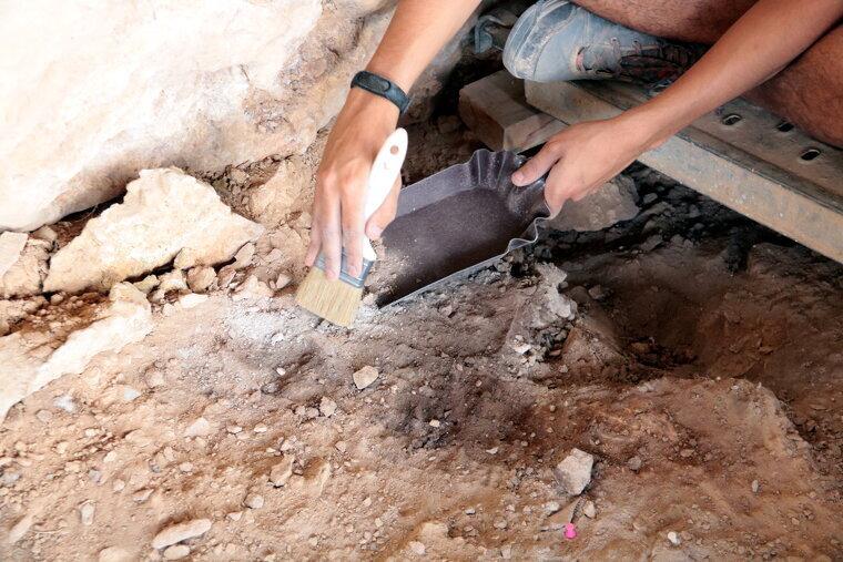 Una de les fogueres documentades en l'actual campanya d'excavacions