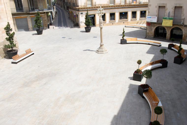 Vista aèria de la plaça Major de Tàrrega