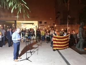 Fotografia de la Marxa de Torxes per la Independència 2018 a les Borges Blanques