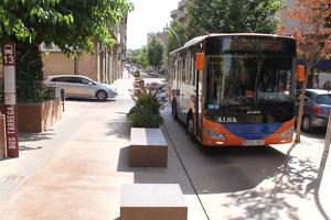 Imatge del bus urbà de Tàrrega