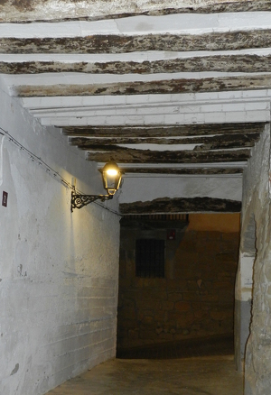 Imatge del nou enllumenat d'Almenar