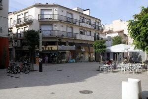 Pla general on es pot veure la plaça Pla d'Urgell, al centre de Mollerussa