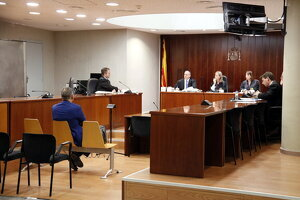Pla obert de l'Audiència de Lleida durant l'acusat d'intentar estafar Ros Roca