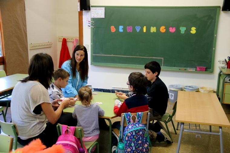 Els alumnes de l'escola de Tírvia, al Pallars Sobirà
