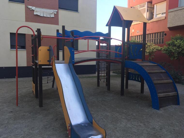 Imatge d'un parc infantil d'Alcarràs