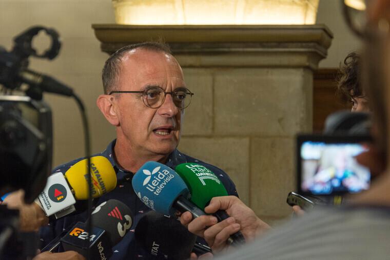 Miquel Pueyo fent declaracions.