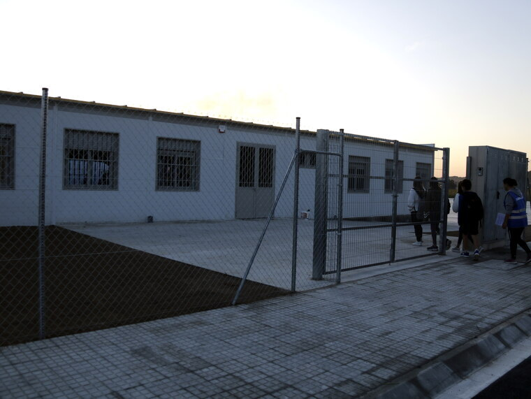 Pla general d'alumnes entrant al nou institut de Mollerussa