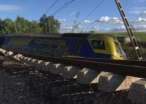 El tren va descarrilar quan el maquinista estava fent una maniobra al no poder continuar per aquell tram.