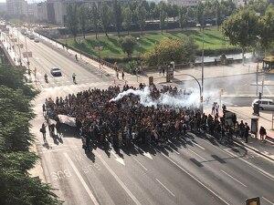 Imatge de la protesta d'estudiants a Lleida