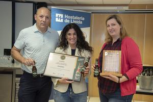 Imatge de la recollida del premi