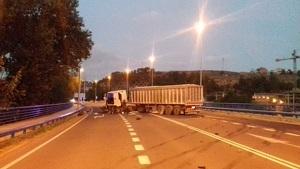 Imatge del camió implicat en l'accident
