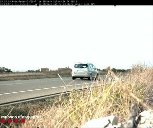 Imatge del cotxe multat