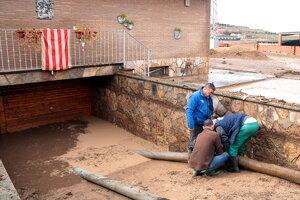 Imatge dels baixos inundats d'una casa d'Arbeca