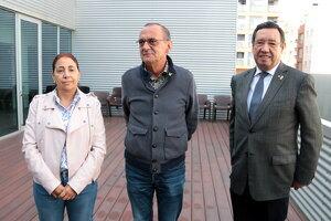 L'alcalde de Lleida, Miquel Pueyo, al centre