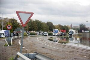 Pla general de la carretera LV-2001 al seu pas per Mollerussa