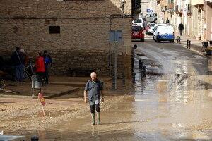 Pla general on es pot veure la zona afectada pels aiguats a Vinaixa
