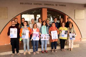Representants de les entitats promotores del procés participatiu amb l'alcaldessa de Tàrrega