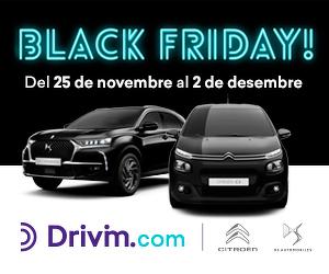 Cartell promocional del Black Friday a Drivim