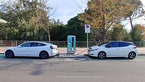 Estació de recàrrega de cotxes elèctrics a Lleida
