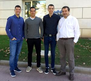 Estrada, segon per l'esquerra, ha col·laborat també en projectes de l'Escola Politènica Superior de la UdL
