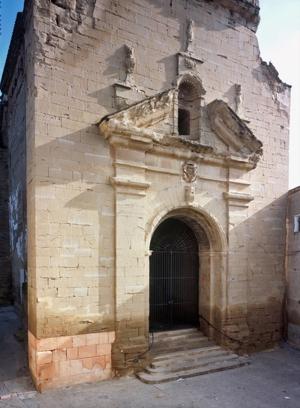 Imatge d'arxiu de la façana de l'església de Santa Maria d'Almenar