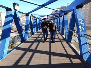 Imatge de la passarel·la de Lleida