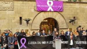 Imatge de l'acte institucional contra la violència masclista