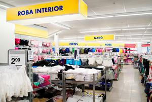 Imatge de l'interior d'una botiga Zeeman