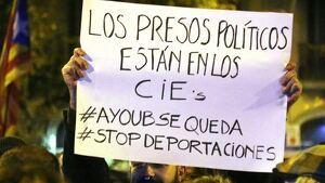 Imatge d'una de les mobilitzacions sota el lema #Ayoubsequeda.